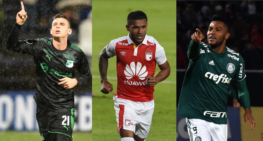 Nicolas Benedetti, Wilson Morelo y Miguel Ángel Borja