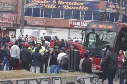 Bloqueos en el sur de Bogotá