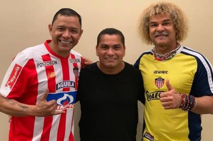 Iván René Valenciano, Víctor Danilo Pacheco y Carlos 'El Pibe' Valderrama