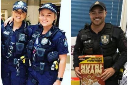 Policías atractivos de Australia.