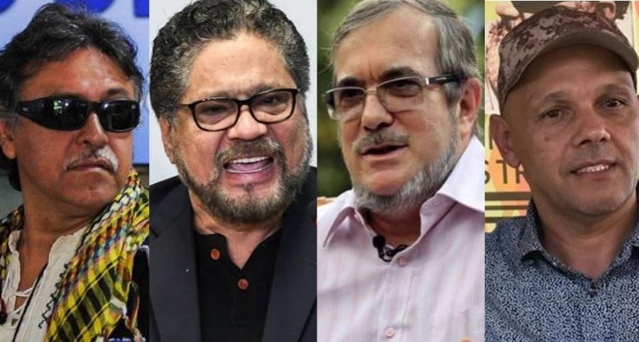 'Jesús Santrich', 'Iván Márquez', 'Timochenko', 'El Paisa' y 'Romaña'