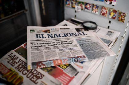 Vistazo del último diario impreso de El Nacional