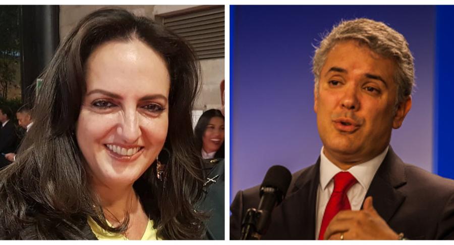 Iván Duque vs María Fernanda Cabal
