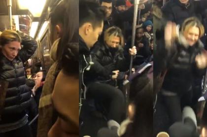 Estadounidense agrede a asiática metro NY