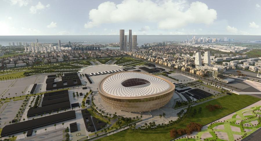 Diseño del estadio de Lusail para el Mundial 2022.
