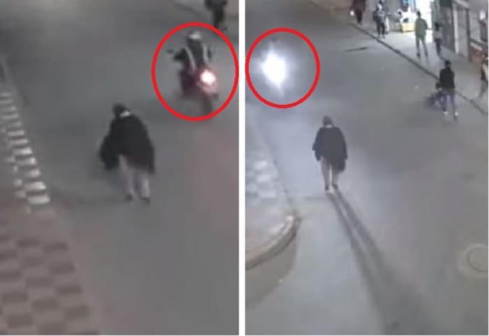 Mujer arrollada por motociclista