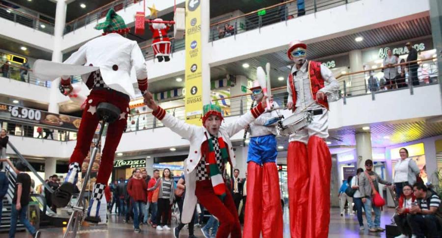 Navidad en centros comerciales
