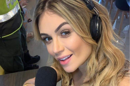 Sara Uribe, presentadora.