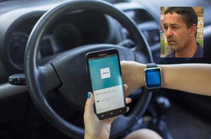 Conductor Uber y Juan Carlos Rendón