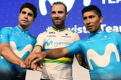 Mikel Landa, Alejandro Valverde y Nairo Quintana