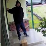 Ladrón roba en una casa.