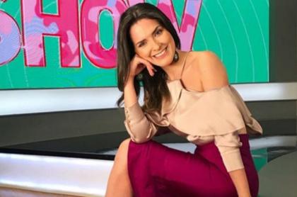 Maria McCausland, presentadora de Caracol.