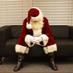 Papá Noel triste.