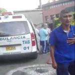 Ambulancia inmovilizada en Cali