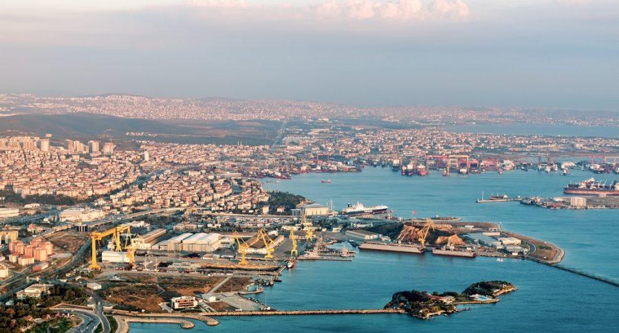 Vista aérea del aeropuerto de Estambul