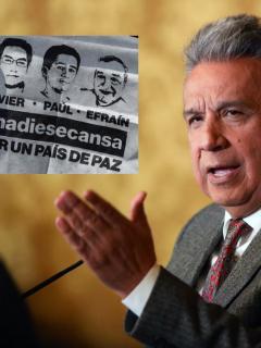 Javier Ortega, Paúl Rivas y Efraín Segarra y Lenín Moreno