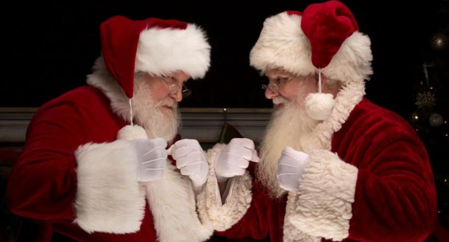 Papás Noel.
