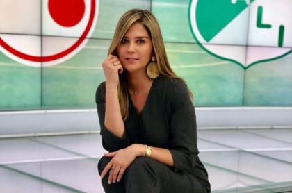 Andrea Guerrero, presentadora.