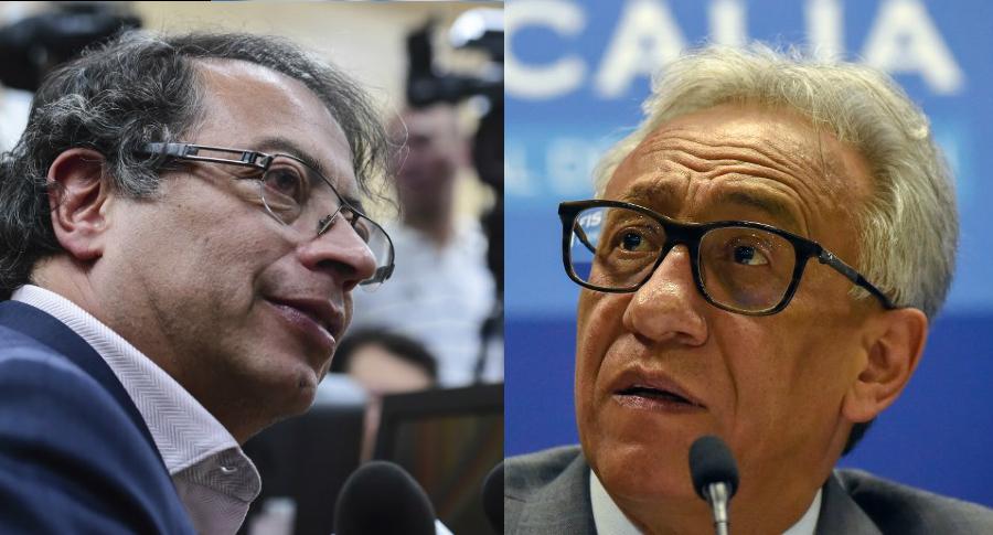 Gustavo Petro y Carlos Valdés