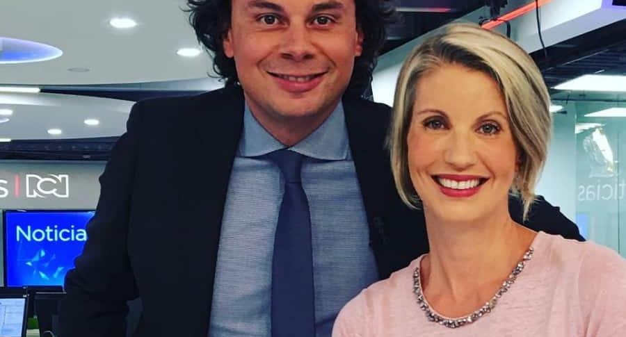 Hassan Nassar y Claudia Gurisatti, periodistas.