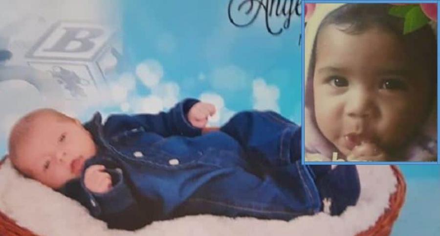 Ángel Smith Ortega Moreno y Danna Guadalupe (recuadro), niños raptados