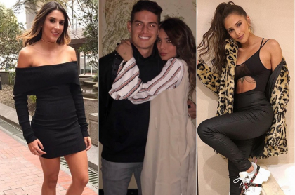 Daniela Ospina, James Rodríguez, Juan Valentina Restrepo y Greeicy Rendón