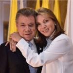 Juan Manuel Santos y María Clemencia Rodríguez