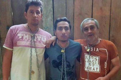 Javier Ortega, Paúl Rivas y Efraín Segarra
