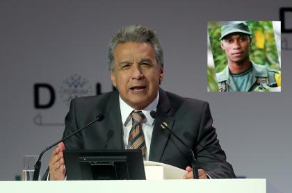 Lenín Moreno, presidente de Ecuador, y alias ' Guacho'.