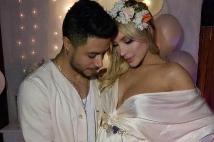 Daniel Calderón, cantante, y su pareja Anita Beleño, modelo y diseñadora.