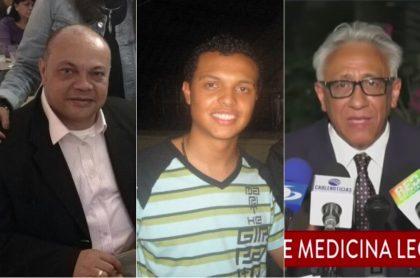 Luis Colmenares y su hijo Luis Andés Colmenares, y Carlos Valdés, exdirector de Medicina Legal.