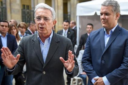Álvaro Uribe, expresidente y senador, e Iván Duque, presidente.