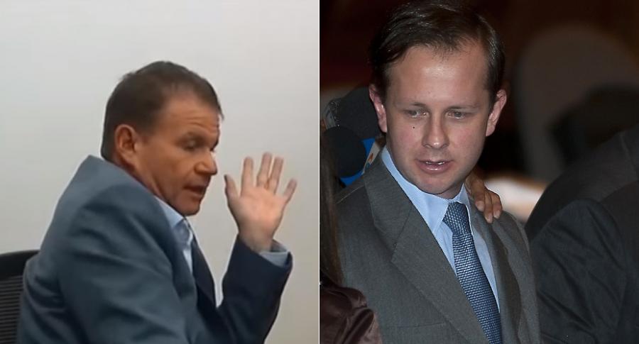 Otto Bula, exsenador, y Andrés Felipe Arias, exministro.