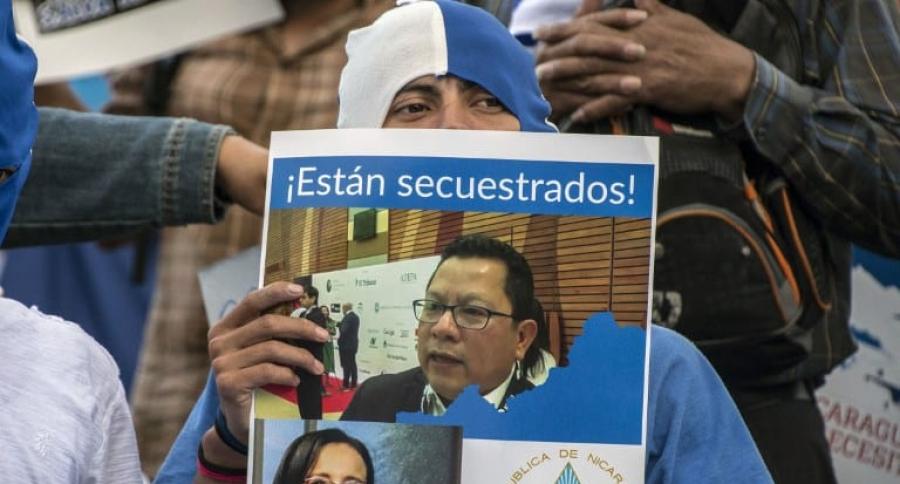 Protestas Managua Miguel Mora