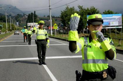 Policía de Tránsito en carretera
