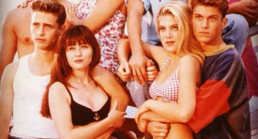 Elenco de 'Beverly Hills 90210'.