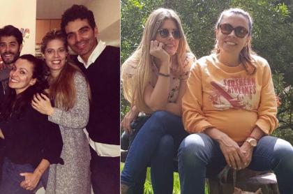 Mónica Layton, Lorna Cepeda y Tiberio Cruz, actores.