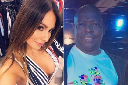 Esperanza Gómez, actriz porno, y Faustino 'el Tino' Asprilla, futbolista.