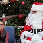 Niño con Papá Noel