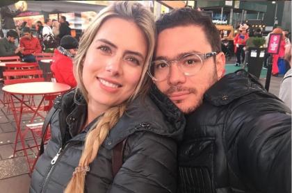 Ana Sofía Henao, modelo, con su esposo Juan Pablo Betancur.