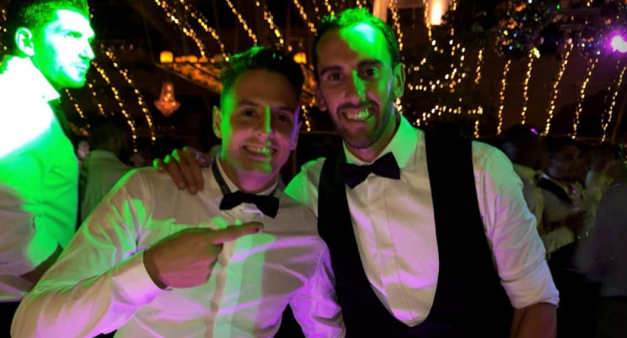 Santiago Arias y Diego Godín