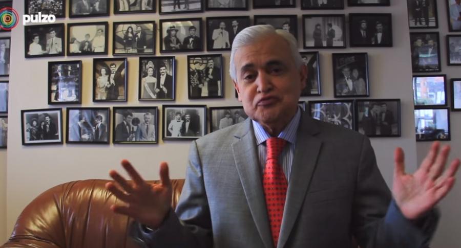 Jorge Barón, presentador.