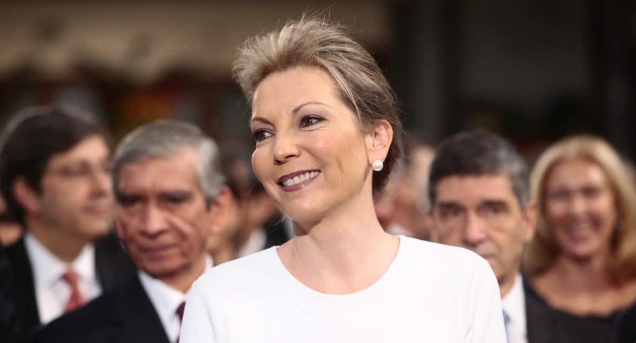 María Clemencia de Santos, exprimera dama.