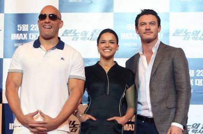 Vin Diesel, Michelle Rodriguez y Luke Evans