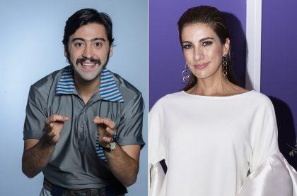 Variel Sánchez, actor, y Andrea Serna, presentadora.