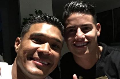 Teófilo Gutiérrez y James Rodríguez