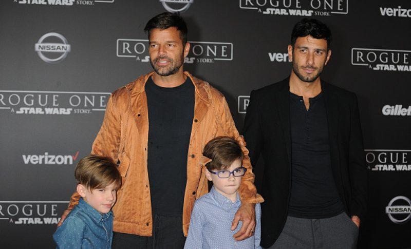Ricky Martin y su familia