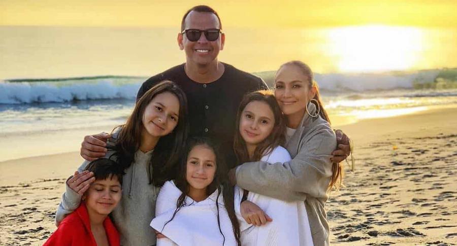 Alex Rodríguez, Ella, Natasha, Jennifer Lopez, Maximilian y Emme