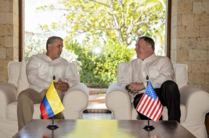 Reunión Duque y Mike Pompeo