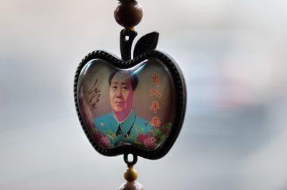 Retrato de Mao Zedong en abalorio